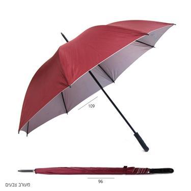 מטריות | מטריות ממותגות | הדפסה על מטריות | מטריות לפרסום| מטריה ידית ישרה 8 צלעות מעורב צבעים