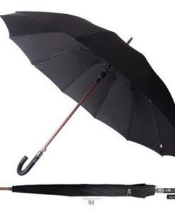 מטריות | מטריות ממותגות | הדפסה על מטריות | מטריות לפרסום |מטריה ממותגת אלומיניום גדולה שחורה