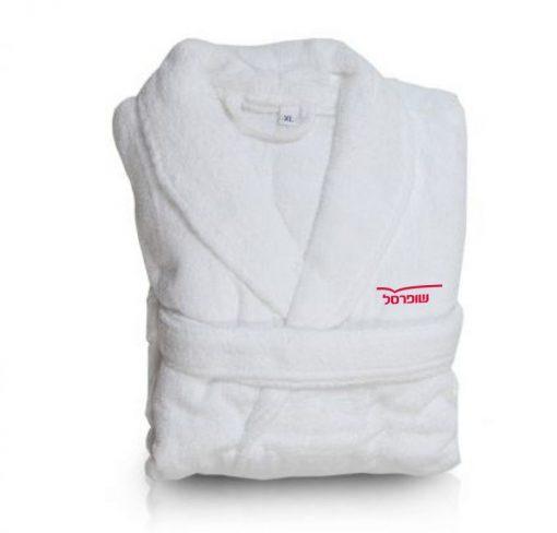 חלוק ממותג | חלוק מגבת 100% כותנה