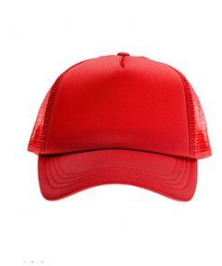 כובע רשת ממותג אדום מלא | הדפסה על כובעים | כובעים להדפסה | כובעים ממותגים
