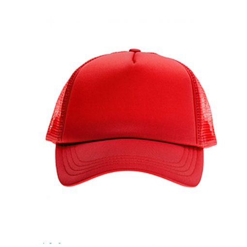 כובע רשת ממותג אדום מלא