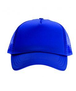 כובע רשת ממותג כחול מלא | הדפסה על כובעים | כובעים להדפסה | כובעים ממותגים