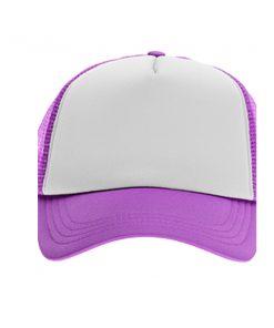 כובע רשת ממותג סגול | הדפסה על כובעים | כובעים להדפסה | כובעים ממותגים