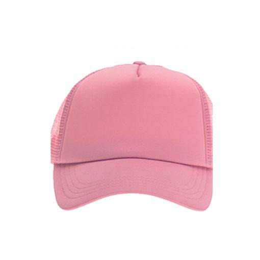 כובע רשת ממותג וורוד בהיר