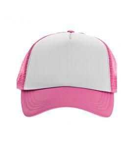 כובע רשת ממותג ורוד | הדפסה על כובעים | כובעים להדפסה | כובעים ממותגים