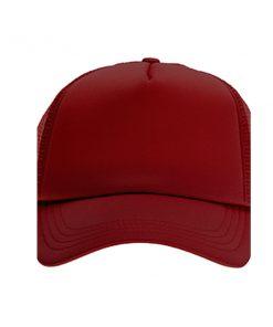 כובע רשת ממותג בורדו מלא   הדפסה על כובעים   כובעים להדפסה   כובעים ממותגים