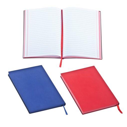 מחברת A5, כריכת PU רכה, 96 דפי שורה, דפים לבנים. קצה דף בצבע הכריכה, סימניה. פתיחה עברית/אנגלית.