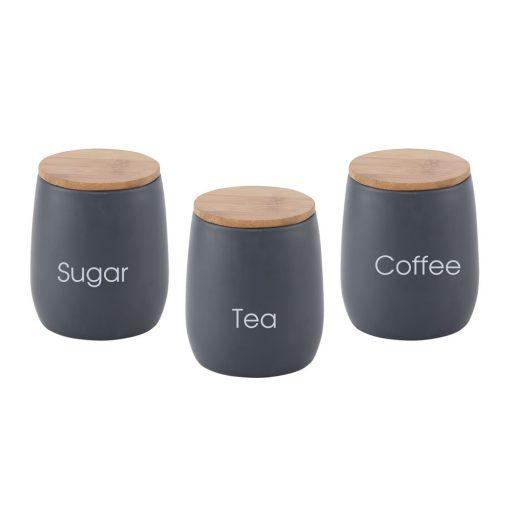 סט ממותג - לאחסון סוכר קפה תה| כלי מטבח ממותגים