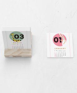 כרטיסיות לוח שנה מעוצבות - עץ